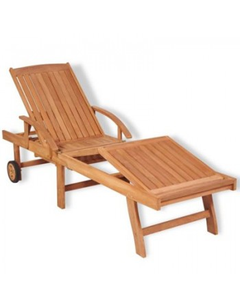Adjustable Teak Sun Lounge